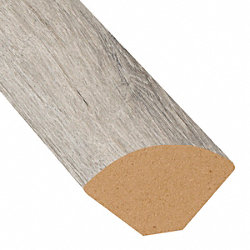 Dewy Meadow Oak Vinyl 1.075 in wide x 7.5 ft Length Quarter Round