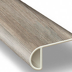 Edgewater Oak Vinyl Waterproof 2.3 in wide x 7.5 ft Length Low Profile Stair Nose