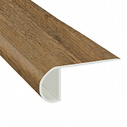 Firefly Pine Vinyl Waterproof 2.25 in wide x 7.5 ft Length Low Profile Stair Nose