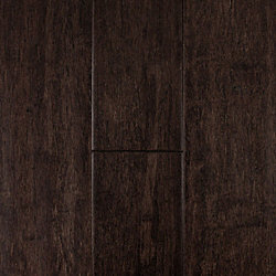 Cocoa Strand Distressed Solid Bamboo Flooring - 15 Year Warranty
