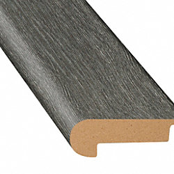 Midnight Oak Laminate Waterproof 2.3 in wide x 7.5 ft Length Low Profile Stair Nose