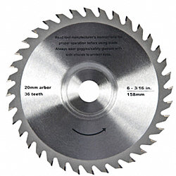 6-3/16 36-Tooth Carbide Tip Saw Blade