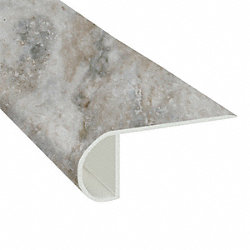 Oyster Shell Travertine Vinyl Waterproof 2.25 in wide x 7.5 ft Length Low Profile Stair Nose