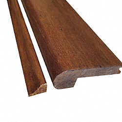Prefinished Antique Hazel Bamboo 1/2 in thick x 3.25 in wide x 72 in Length Flush Stair Nose