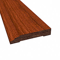 Prefinished Brazilian Cherry Cumaru Hardwood 1/2 in thick x 3.25 in wide x 8 ft Length Baseboard