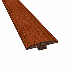 Prefinished Brazilian Cherry Cumaru Hardwood 1/4 in thick x 2 in wide x78 in Length T-Molding