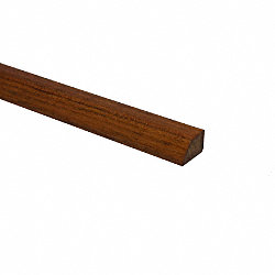 Prefinished Brazilian Cherry Hardwood 1/2 in thick x . 75 in wide x 78 in Length Shoe Molding