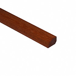 Prefinished Brazilian Cherry Hardwood 1/2 in thick x .75 in wide x 6.5 ft Shoe Molding