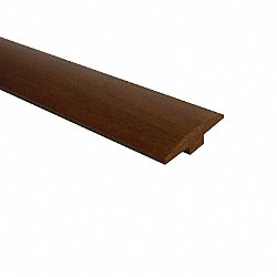 Prefinished Brazilian Walnut Hardwood 1/4 in thick x 2 in wide x 78 in Length T-Molding