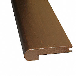 Prefinished Caf? Noir Distressed Bamboo 9/16 in thick x 3.25 in wide x 72 in Stair Nose
