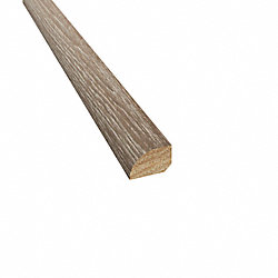 Prefinished Canterbury Hickory Hardwood 1/2 in thick x .75 in wide x 78 in Length Shoe Molding