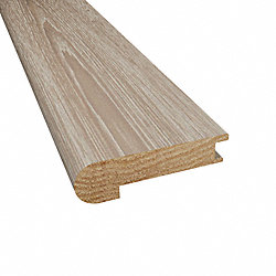 Prefinished Canterbury Hickory Hardwood 9/16 in thick x 2.75 in wide x 78 in Length Stair Nose