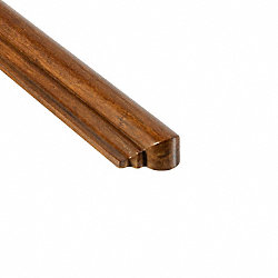 Prefinished Carbonized Strand Bamboo 1 in thick x 1.75 in wide x 14.75 in Length Retro Fit Return
