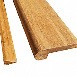 Prefinished Carbonized Strand Bamboo 1/2 in thick x 3.25 in wide x 72 in Length Stair Nose