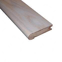 Prefinished Carriage House White Ash Hardwood 3/4 in thick x 3.125 in wide x 78 in Length Stair Nose