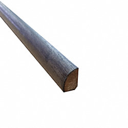 Prefinished Chestnut Hevea Hardwood 1/2 in thick x .75 in wide x 78 in Length Shoe Molding