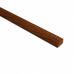 Prefinished Classic Gunstock Oak Hardwood 1/2 in thick x .75 in wide x 78 in Length Shoe Molding