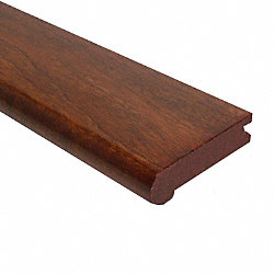 Prefinished Copper Hevea Hardwood 3/4 in thick x 3 1/8 in wide x 78 in Length Stair Nose