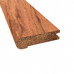 Prefinished Curupay Hardwood 3/4 in thick x 3.125 in wide x 78 in Length Stair Nose