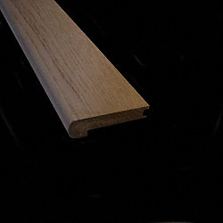 Prefinished Delaware Driftwood Oak Hardwood 1/2 in thick x 2.75 in wide x 78 in Length Stair Nose