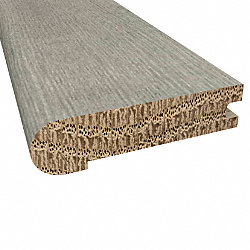 Prefinished Distressed Cashmere Hardwood Gray Oak 3/4 in thick x 3-18 in wide x 78 in Length Stair Nose