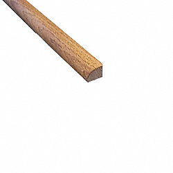 Prefinished Distressed Gunstock Oak Hardwood 1/2 in thick x .75 in wide x 78 in Length Shoe Molding