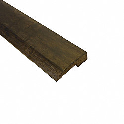 Prefinished Espresso Hevea Hardwood 5/8 in thick x 2 in wide x 78 in Length Threshold