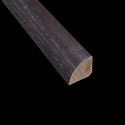 Prefinished Espresso Oak Hardwood 8 ft Builder Quarter Round