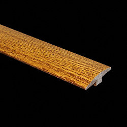 Prefinished Gunstock Oak Hardwood 1/2 in thick x 2 in wide x 6.5 ft Length T-Molding