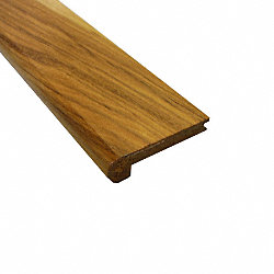 Prefinished Hickory Hardwood 3/8 in thick x 2.75 in wide x 78 in Length Stair Nose