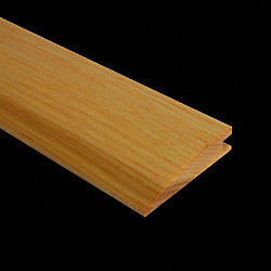 Prefinished Hickory Natural Hardwood 1/2 in thick x 2 in wide x 6.5 ft Length Reducer