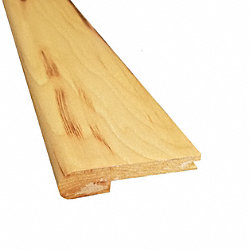 Prefinished Hickory Natural Hardwood 1/2 in thick x 3.375 in wide x 6.5 ft Length Stair Nose