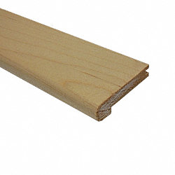 Prefinished Maple Hardwood 1/2 in thick x 2.75 in wide x 78 in Length Stair Nose