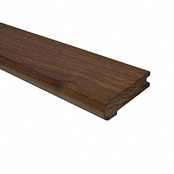Prefinished Matte American Walnut Hardwood 3/4 in thick x 3.125 in wide x 78 in Length Stair Nose