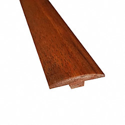 Prefinished Matte Brazilian Chestnut Hardwood 1/4 in thick x 2 in wide x 78 in Length T-Molding