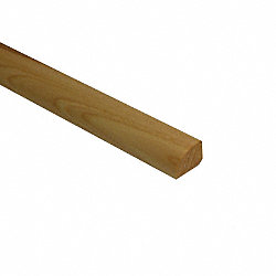 Prefinished Matte Hickory Hardwood 1/2 in thick x .75 in wide x 78 in Length Shoe Molding