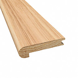 Prefinished Matte Hickory Natural Hardwood 1/2 in thick x 2.75 in wide x 78 in Length Stair Nose