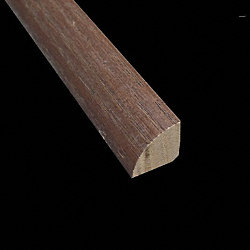Prefinished Mocha Oak Builder Hardwood 8 ft Quarter Round