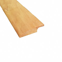 Prefinished Natural Hickory Hardwood 3/8 in thick x 2.25 in wide x 78 in Length Overlap Reducer