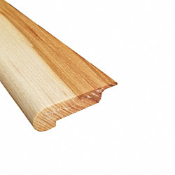Prefinished Natural Hickory Hardwood 3/8 in thick x 2.75 in wide x 78 in Length Overlap Stair Nose