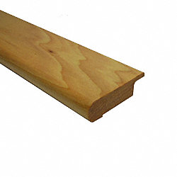 Prefinished Natural Hickory Quick Click Hardwood 1/2 in thick x 2.75 in wide x 6.5 ft Length Stair Nose