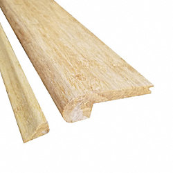 Prefinished Natural Strand Bamboo 3/8 in thick x 3.25 in wide x 72 in Length Stair Nose