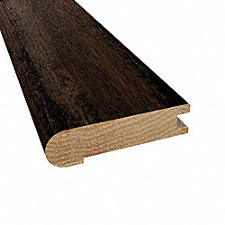 Prefinished Pioneer Leather Hickory Hardwood 3/4 in thick x 3.125 in wide x 78 in Length Stair Nose