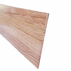 Prefinished Red Oak Solid Hardwood 11/32 in thick x 7.5 in wide x 48 in Length Retro Fit Riser