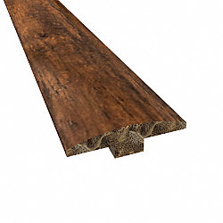 Prefinished Roasted Almond Distressed Bamboo 1/4 in thick x 2 in wide x 72 in Length T-Molding