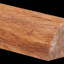 Prefinished Strand Carbonized Bamboo 3/4 in thick x .75 in wide x 6 ft Length Quarter Round
