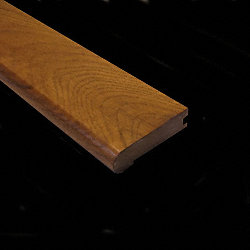 Prefinished Sugar Mill Hickory Hardwood 3/4 in thick x 3.125 in wide x 78 in Length Stair Nose