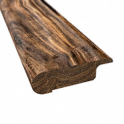 Prefinished Tobacco Road Acacia Hardwood 1/2 in thick x .75 in wide x 6.5 ft Length Stair Nose