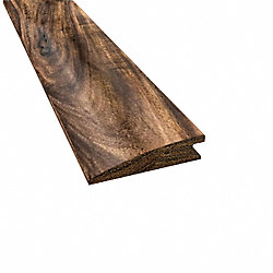 Prefinished Tobacco Road Hardwood 1/2 in thick x 2 in wide x 6.5 ft Length Reducer