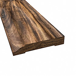 Prefinished Tobacco Road Hardwood 1/2 in thick x 3.25 in wide x 8 ft Length Baseboard